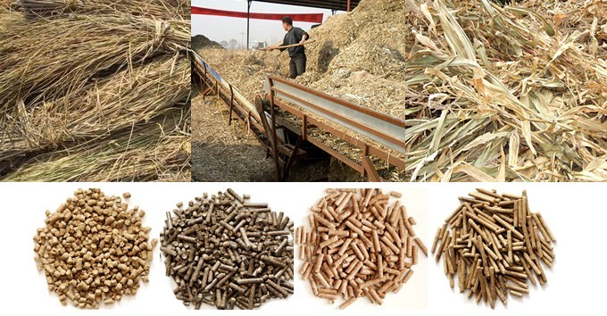 wheat straw pellet machine